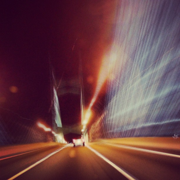 Early Morning Drive to the Airport #florida #road #pontevedra #slowshutter #bridge