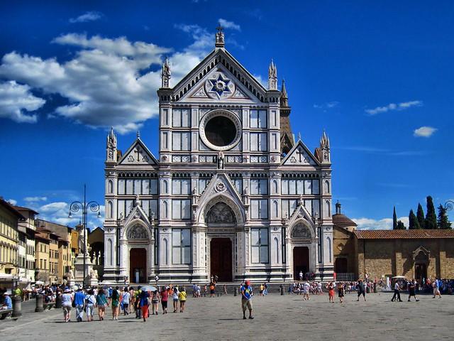 Basilica Santa Croce Florence HDR 20110810.
