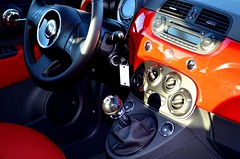 FIAT 500 Pop Interior shot - Rosso