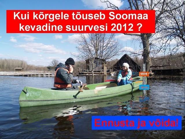 Kui kõrgele tõuseb Soomaa suurvesi 2012