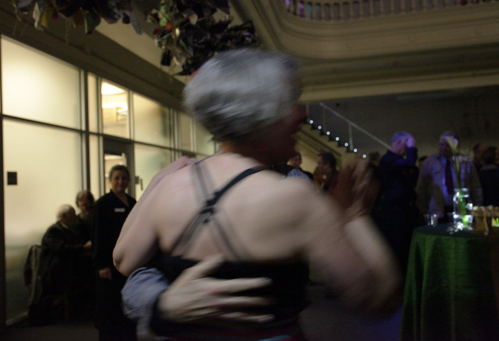 Music and dancing under the Sibley dome on Saturday night.