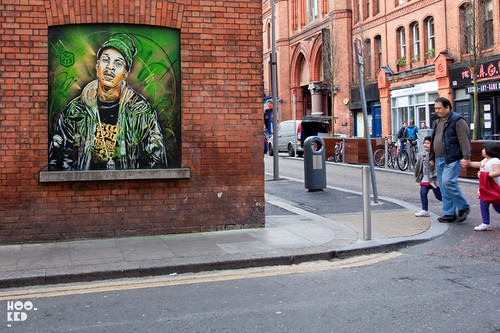French street artist C215 hits the streets of Dublin, Ireland Photo ©Hookedblog / Mark Rigney