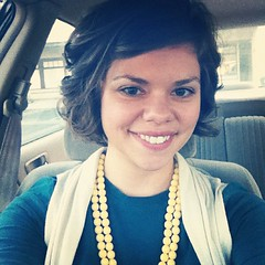 New hair cut! My stylist showed me how to curl with a flat iron and I'm loving it.
