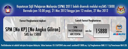 Check result SPM 2011 SMS