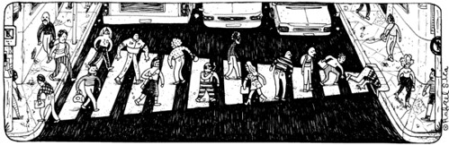 Faixa de pedestres, por Rafael Sica