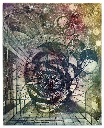 006-Paseo celeste-Serie Cosmos 1990- René Bord- Bibliothèque Municipale de Lyon