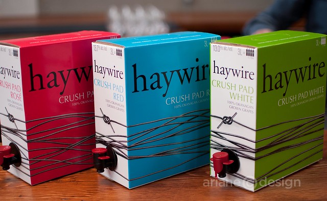 haywire boxed selection: Crush Pad Rosé, Crush Pad Red, Crush Pad White