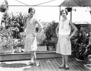 Women modeling fashion on Burdine's roof: Miami, Florida
