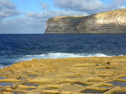 Old Saltpans at Xlendi, Gozo