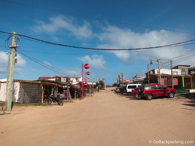 The center of Punta del Diablo