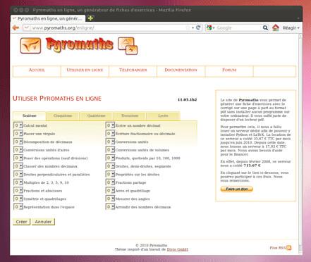 Pyromaths en ligne