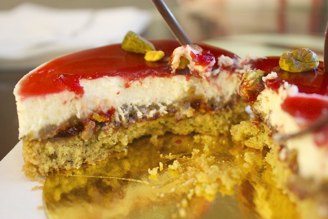 Cherry Pistachio Tart innards