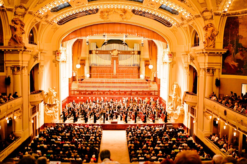 Boston Youth Symphony in Smetana Hall in Prague, Czech Republic