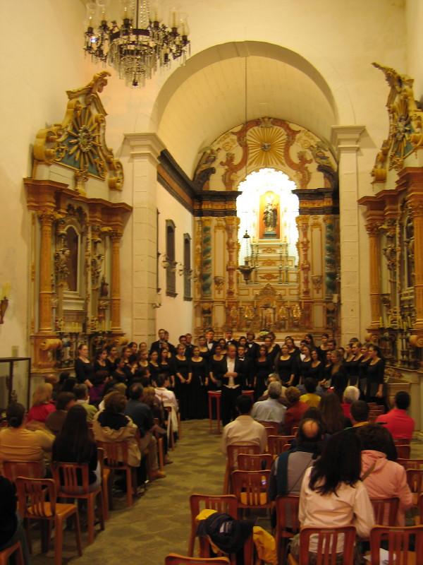 Butler University Chorale peforms in Igreja Santa Rita in Paraty