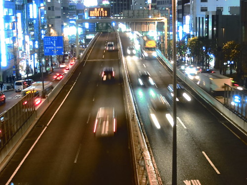 Shibuya night highway