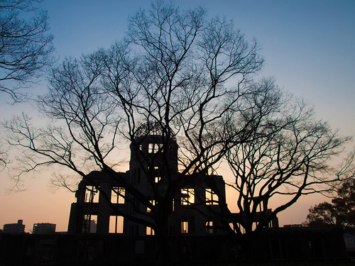 sunset japan eerie hiroshima bomb atomic