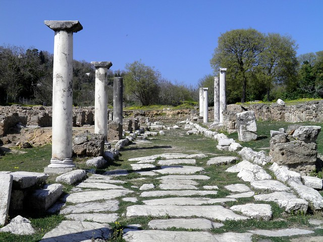 Central colonnaded street, Ancient Edessa