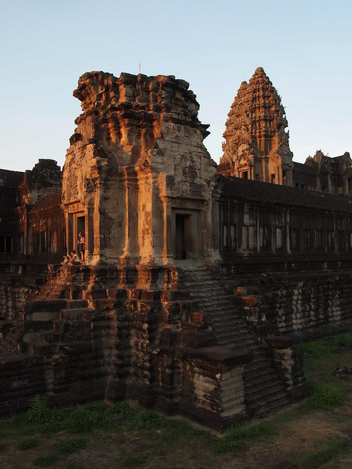 Angkor Wat exterior at sunset