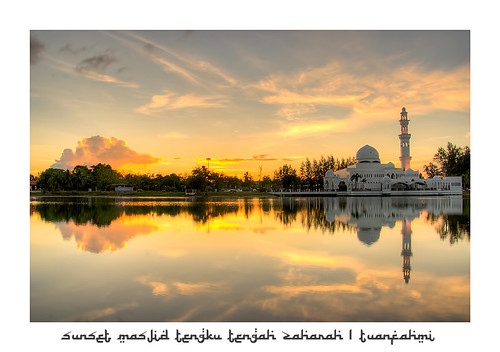Sunset at Masjid Tengku Tengah Zaharah