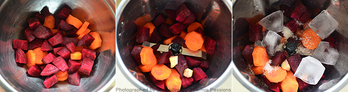 How to make carrot beetroot juice - Step1