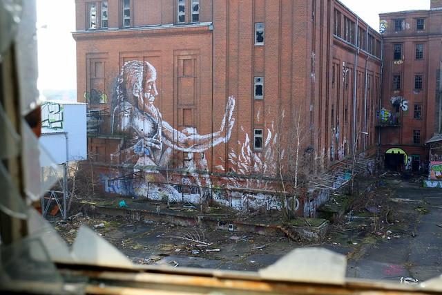 mural | alaniz | urbex | bärenquell brauerei