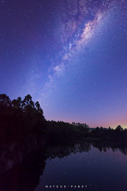 Via láctea nos céus de Taió