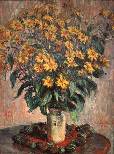 """Jerusalem Artichoke Flowers"" by Claude Monet, 1880"