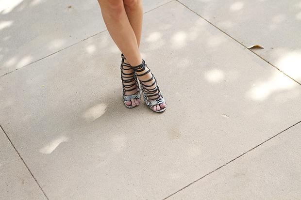 strappy snakeskin sandals