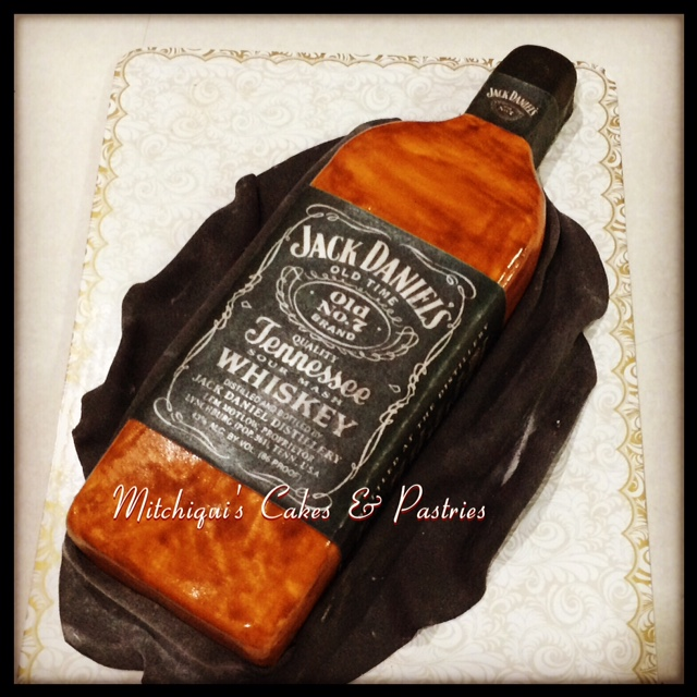 Jack Daniel's Inspired Cake by Jasmin Mae Martinez of Mitchiquis Cakes And Pastries