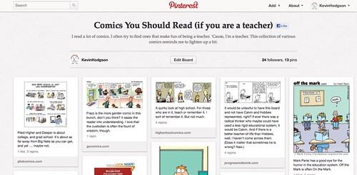 Pinterest comic board