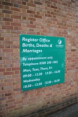 Registering Poppy's birth