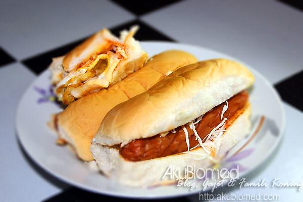 Hot dog sebagai santapan malam
