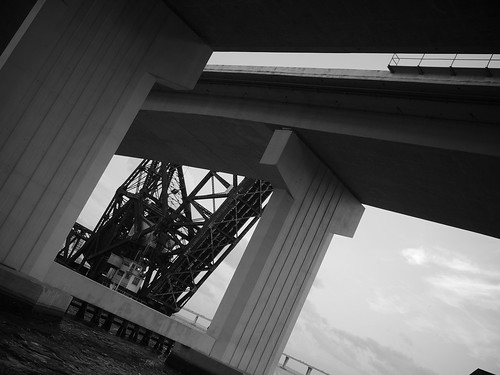 Train Bridge Beaneath the Acosta Bridge, Jacksonville, Florida
