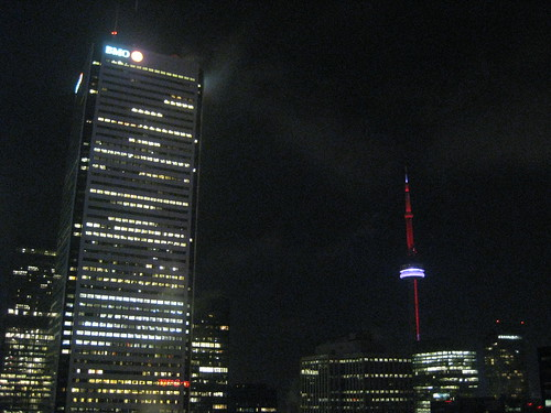 Night shot of the CN Tower