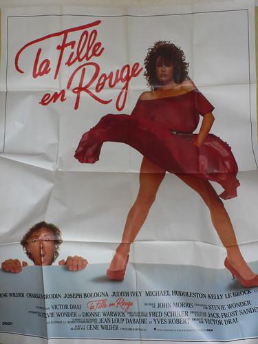 affiche fille en rouge by angelarune