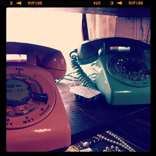 His and hers rotary phones!
