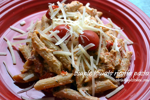 Simple Tomato Ricotta Pasta