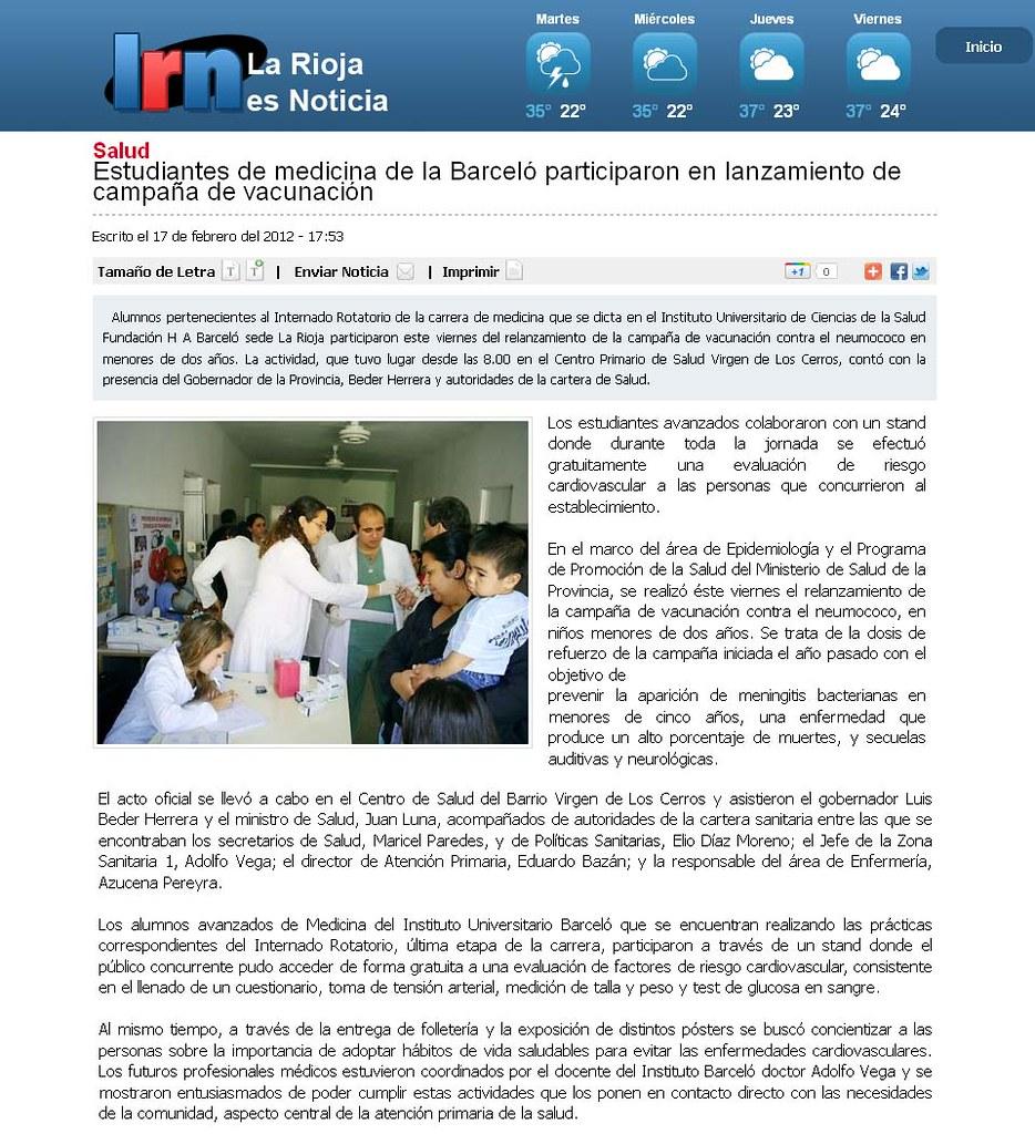 Campaña vacunación - La Rioja es Noticia - 17.02.2012