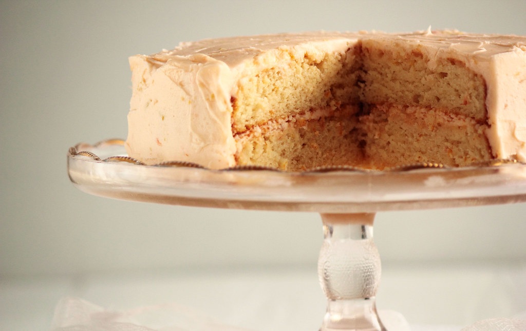 Grapefruit Cake with Grapefruit Buttercream