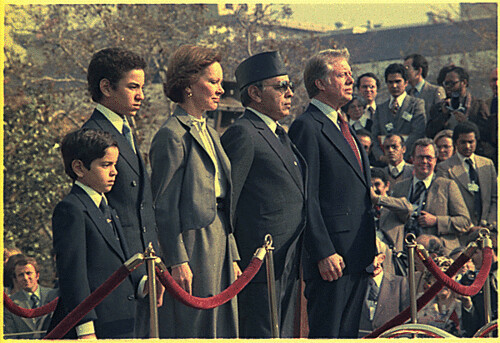 Morocco's King Hassan II and his sons