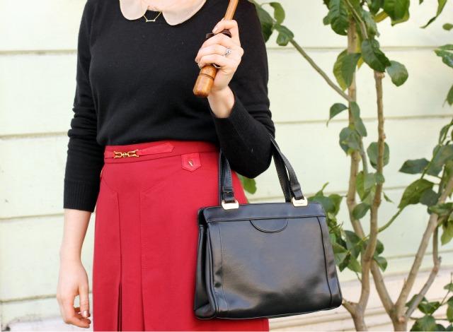 bag and skirt detail