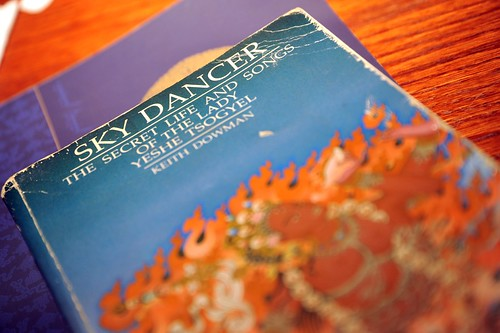Sky Dancer, The Secret Life and Songs of the Lady Yeshe Tsogyel, by Keith Dowman, cover, hotel room, Beaverton, Oregon, USA by Wonderlane