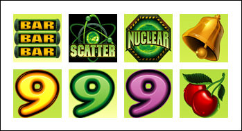 free Nuclear 9's slot game symbols