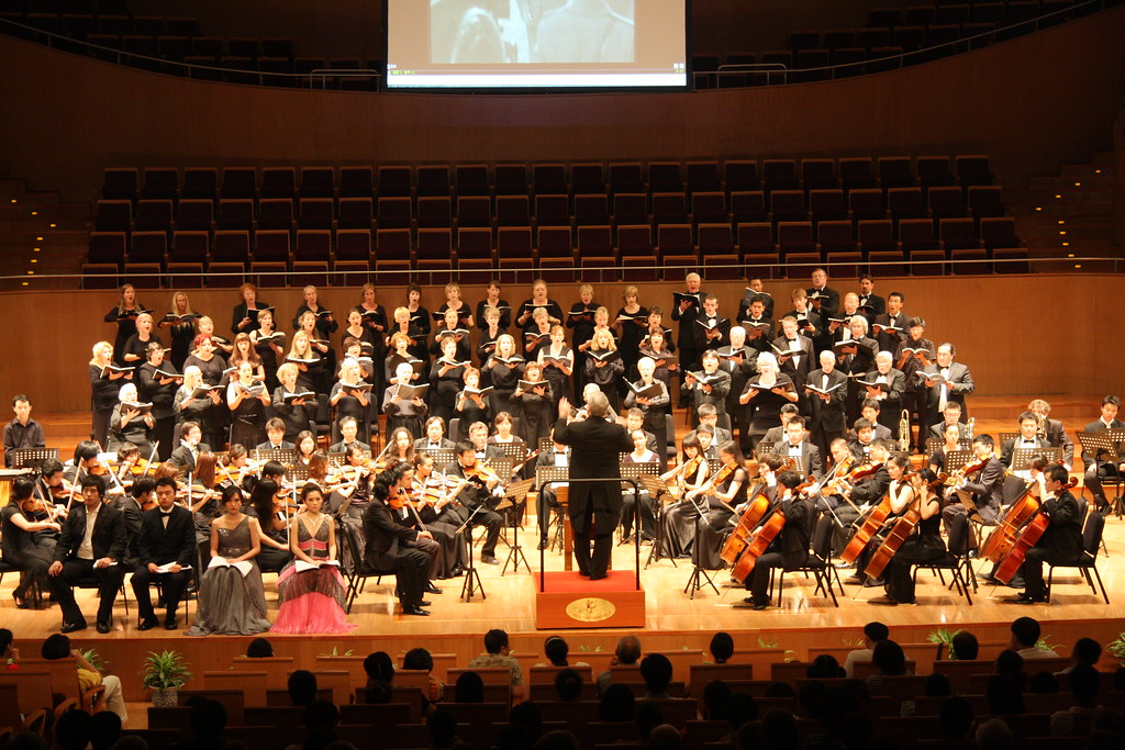Jonathan Griffith Singers perform The Armed Man in the Shanghai Oriental Art Center