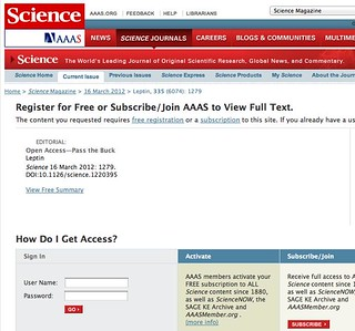 Science magazine wins an open access irony award with *another* editorial on open access behind a paywall...