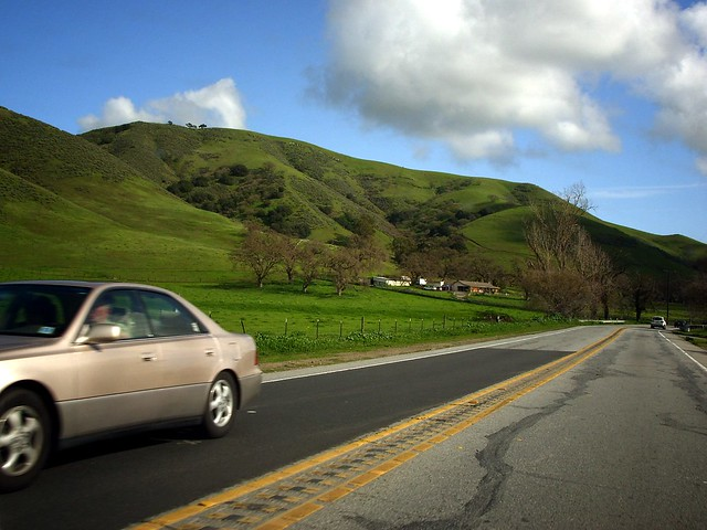 Green Season Pacheco Pass Highway Near Gilroy February
