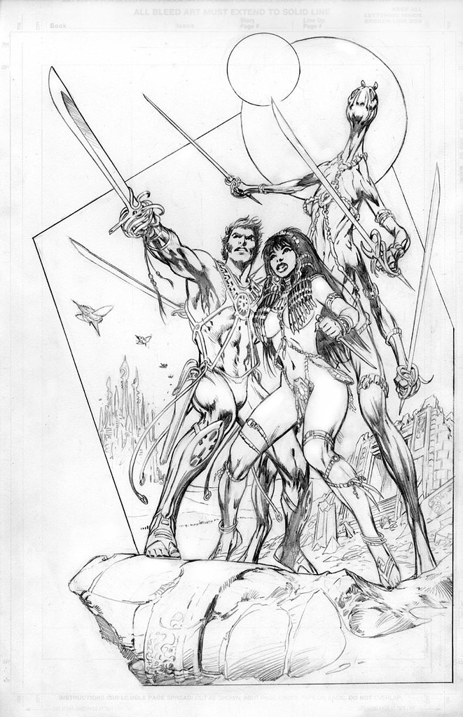 Alan Davis John Carter of Mars pencil version