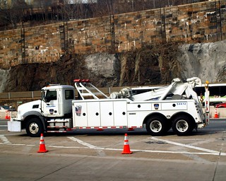 Port Authority MACK Emergency Tow Truck, Lincoln Tunnel Entrance, New Jersey