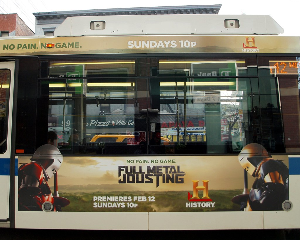 FULL METAL JOUSTING MTA Bus Billboard, New York City
