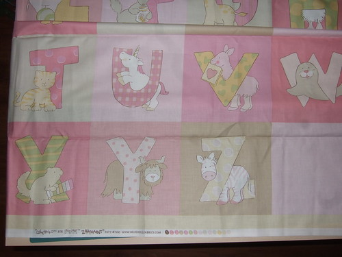 Awesome alphabet fabric